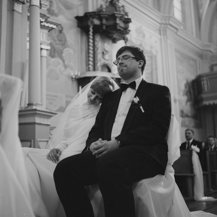 film wedding photography - bride and groom portrait