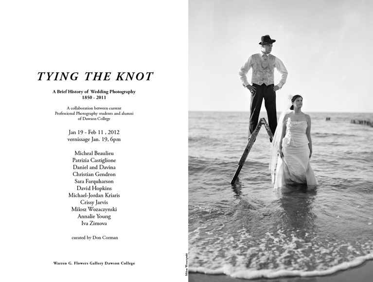 tying the knot, wedding photography exhibition, Montreal
