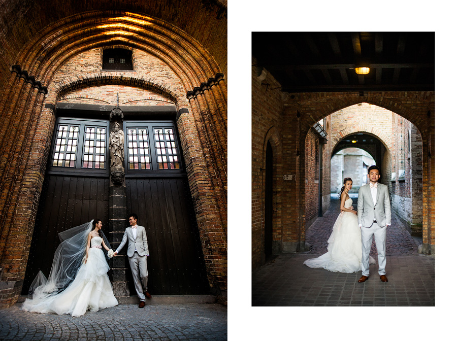 wedding session in Belgium, beautiful Bruges old town