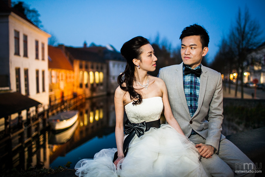 beauty of Bruges old town, wedding photography