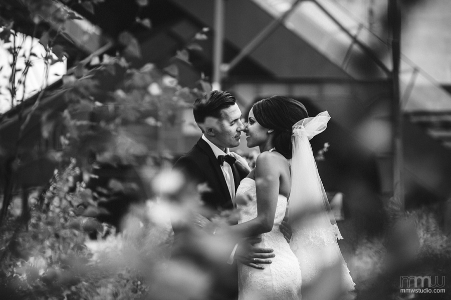 wedding session industrial style