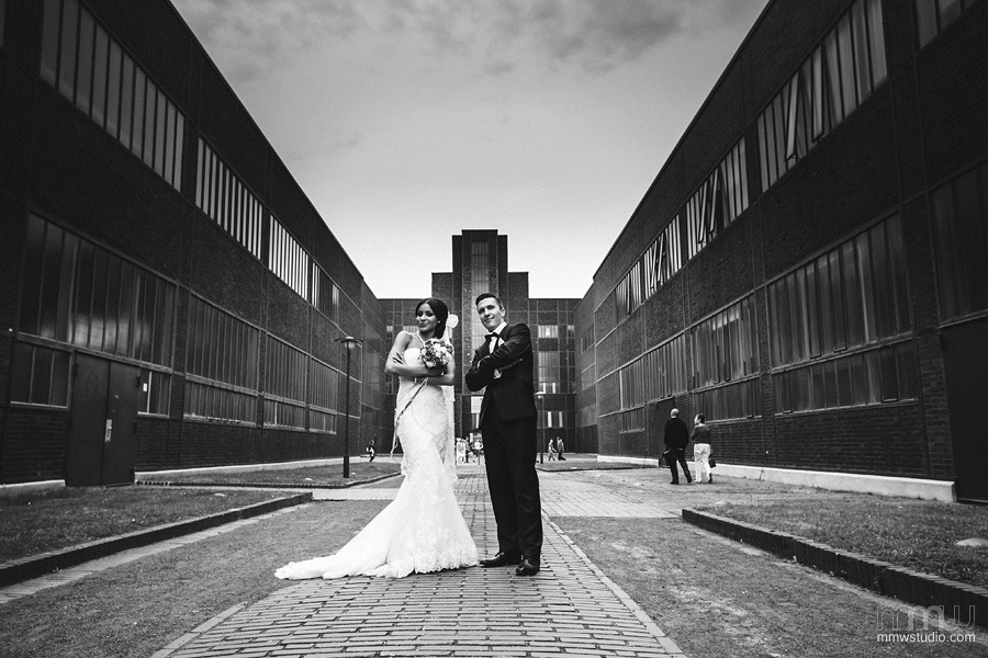 industrial wedding session