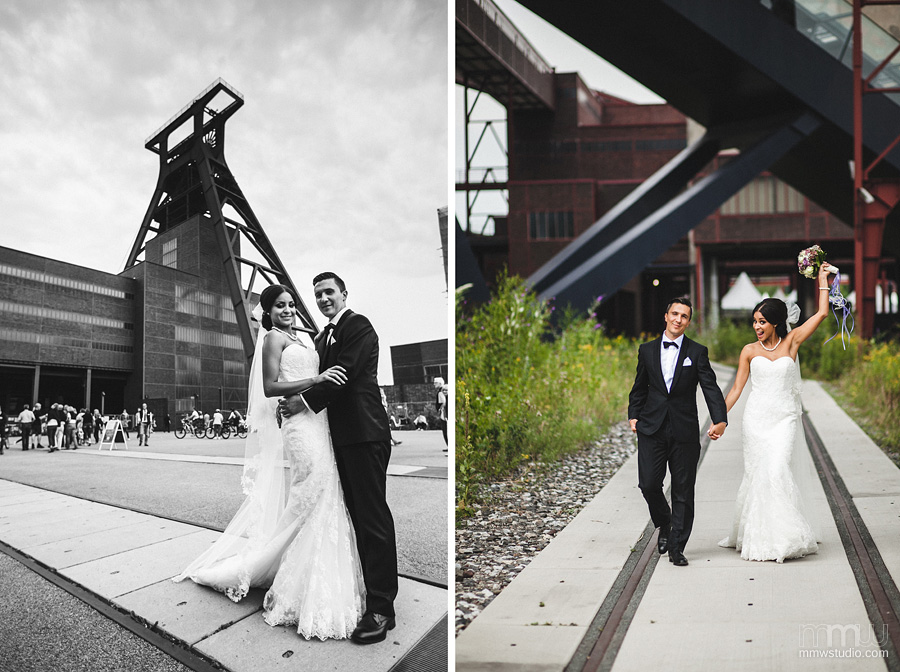 industrial wedding session in germany