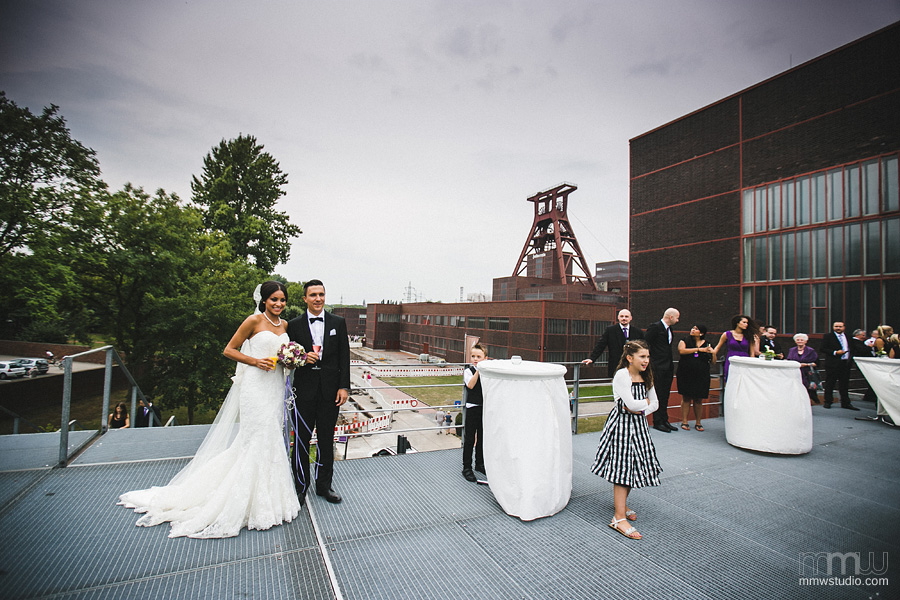 wedding in Essen at the Zeche Zollverein