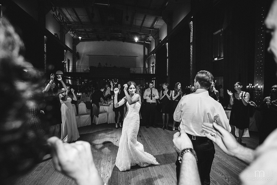 first dance at the wedding reception by wedding photographers birmingham