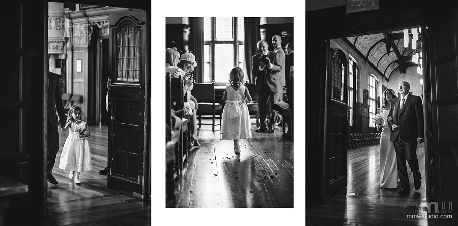 beautiful wedding flower girl, bride's entrance