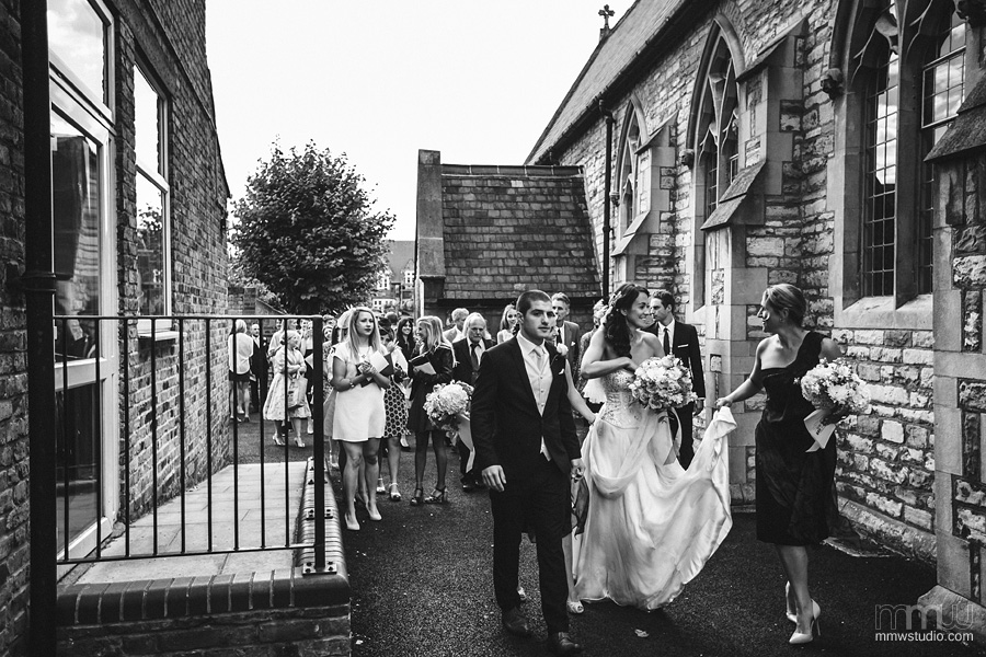 natural wedding reportage at St Thomas of Canterbury Fulham