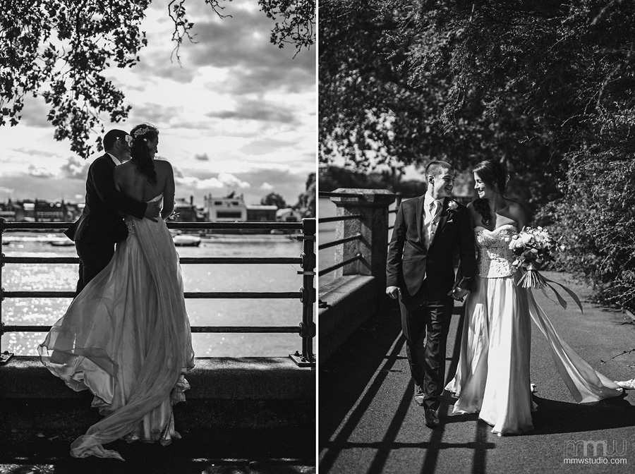 wedding session at Thames river, London