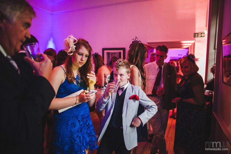 informal wedding reception photography