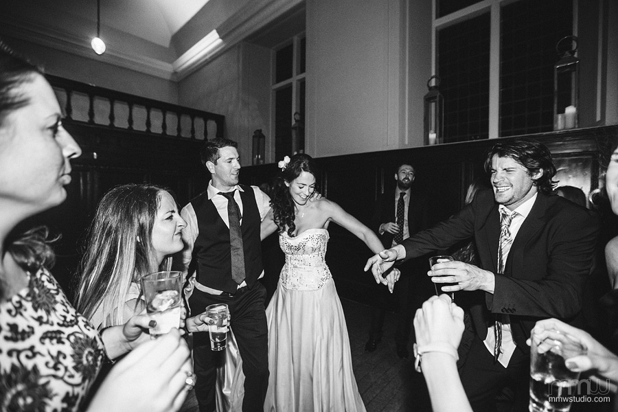 informal black and white wedding reportage