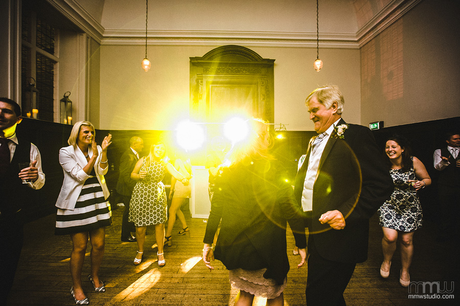 informal dancing guests at reception Fulham Palace