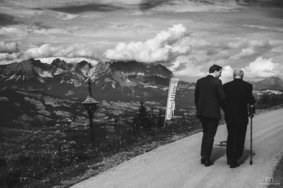 wedding in Alps, Kitzbuhel, Austria