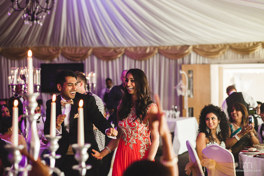 Indian wedding reception Goosedale Nottinghamshire