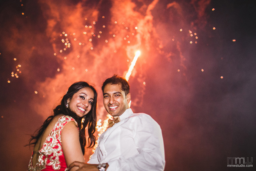 fireworks at wedding reception - wedding photographer Birmingham