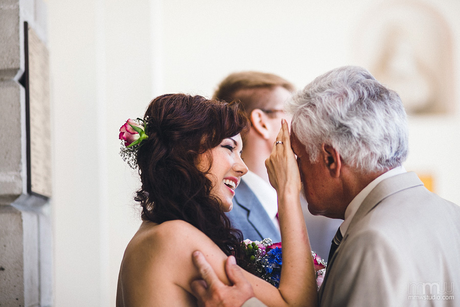 cheerful wedding moments