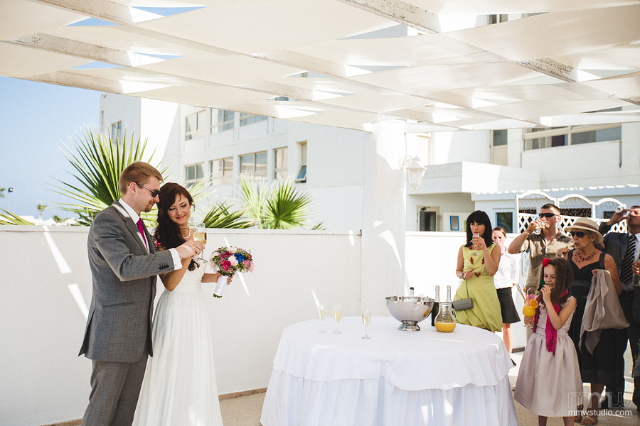 wedding reception in aiya napa, Aphrodite Beach