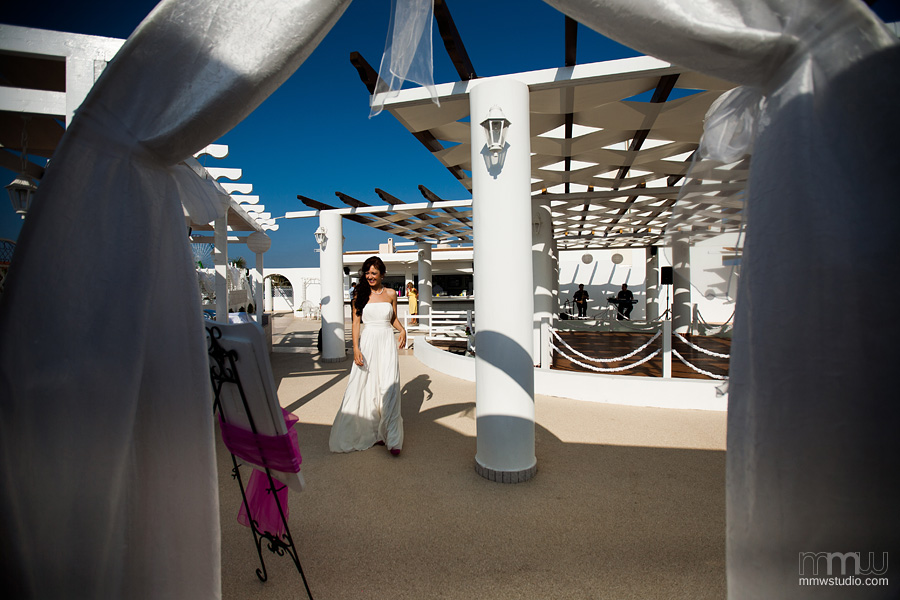 wedding party in aiya napa at Aphrodite Beach