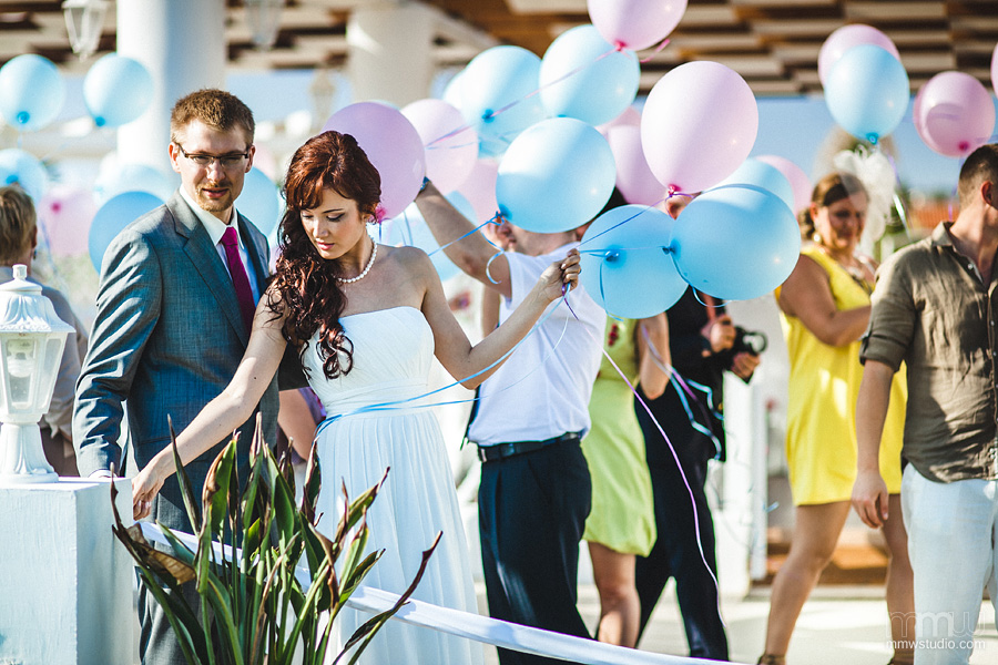 wedding baloons Aphrodite Beach, Cyprus