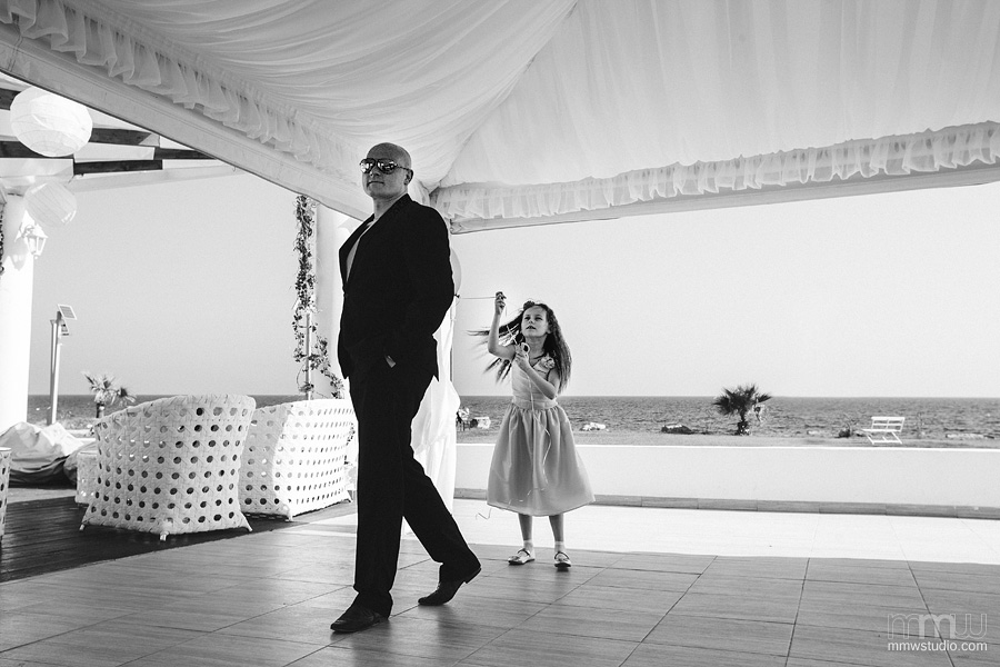 wedding reportage Aphrodite Beach, Cyprus