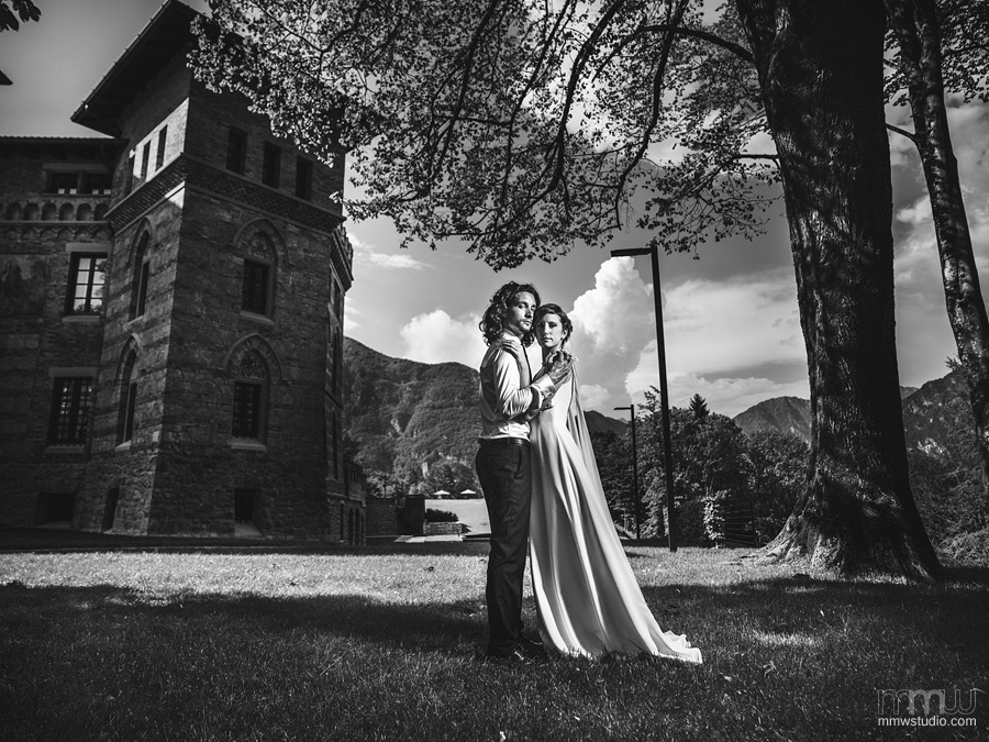 wedding in mountains, castello cecconi, best wedding pictures, wedding strobist