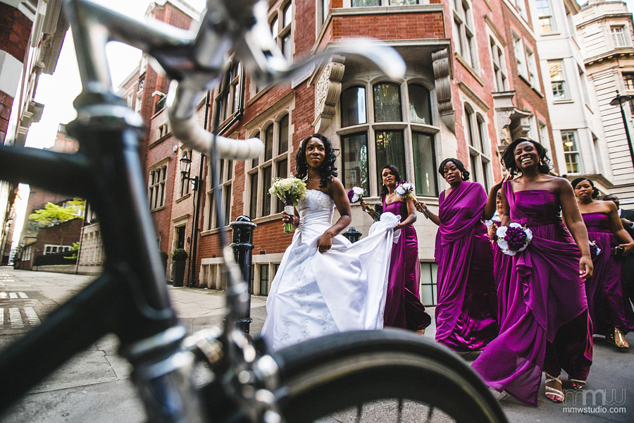 bride and bridesmaids in London