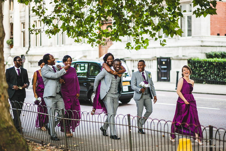 bridesmaids and groomsmen London