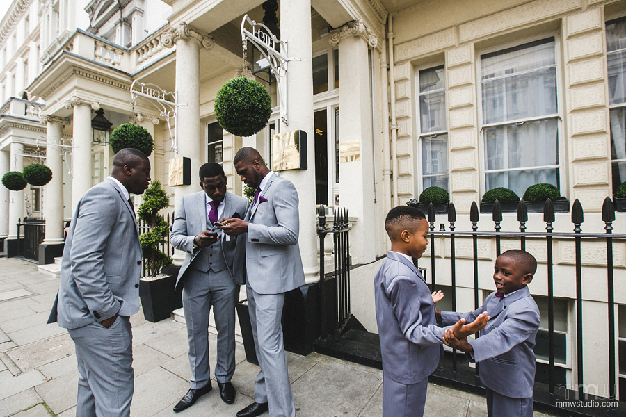 groomsmen in London