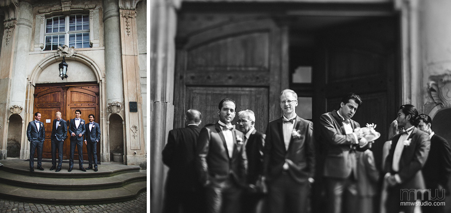 groom and groomsman portrait