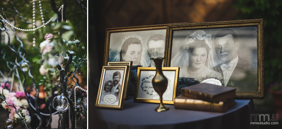 stylish retro, vintage wedding details